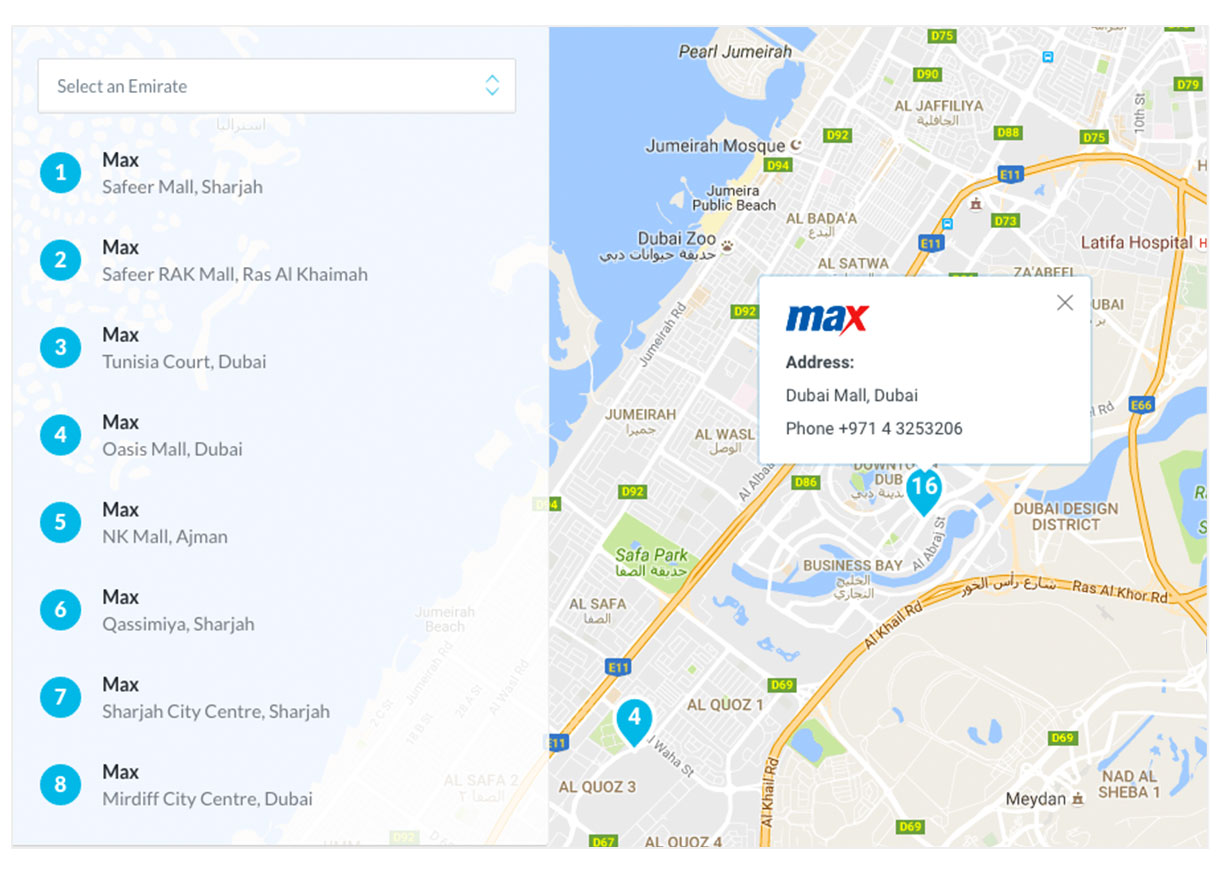 Find your favourite store easily with our Store Locator.